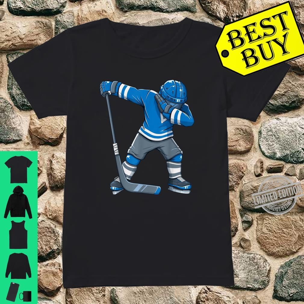 Funny Boy Kid Ice Hockey Dab Apparel, Dabbing Player Youth Shirt ladies tee