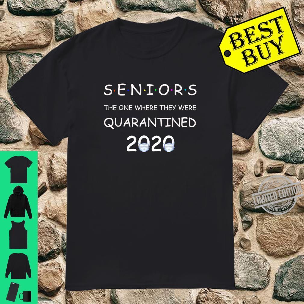 Funny Class Of 2020 Graduation Senior Quarantine Shirt
