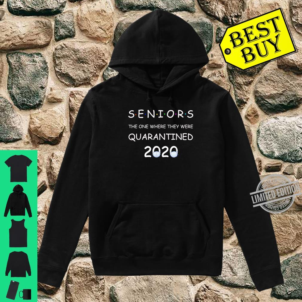 Funny Class Of 2020 Graduation Senior Quarantine Shirt hoodie
