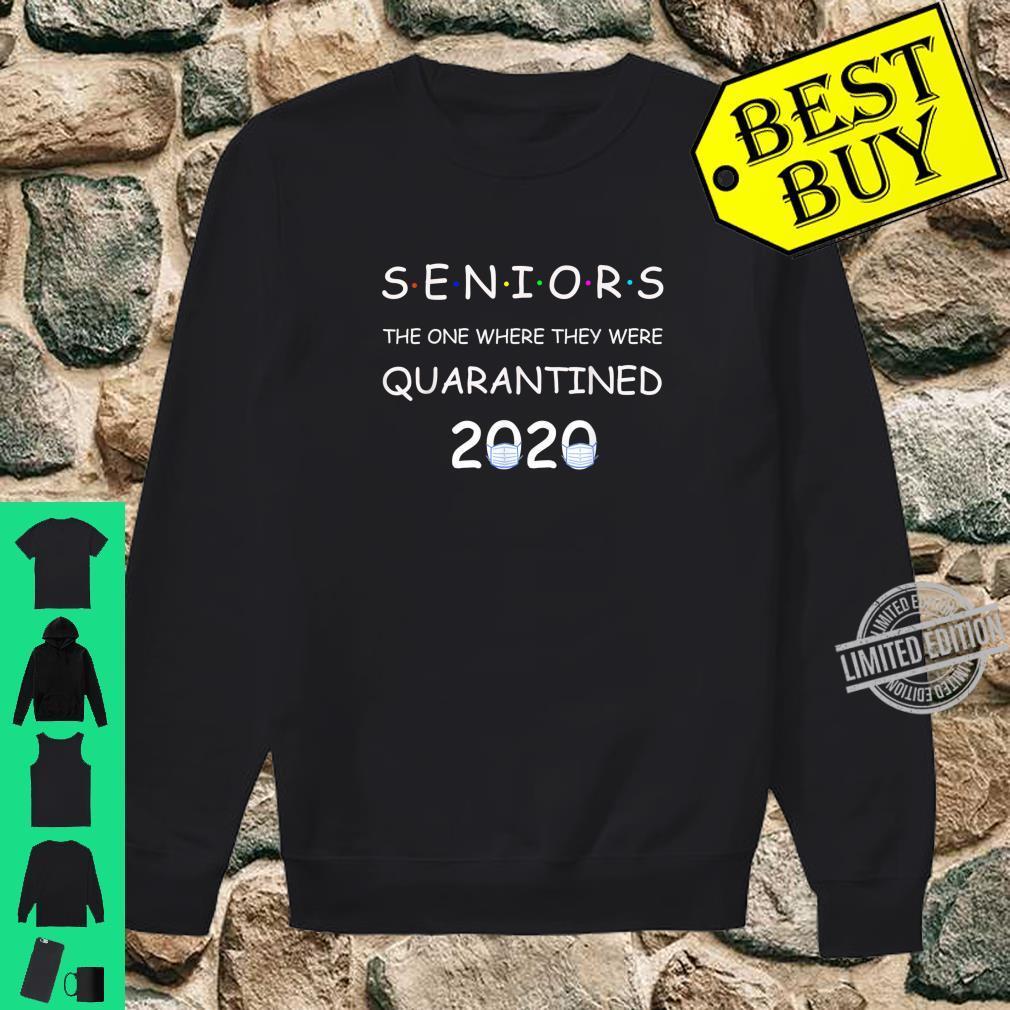 Funny Class Of 2020 Graduation Senior Quarantine Shirt sweater