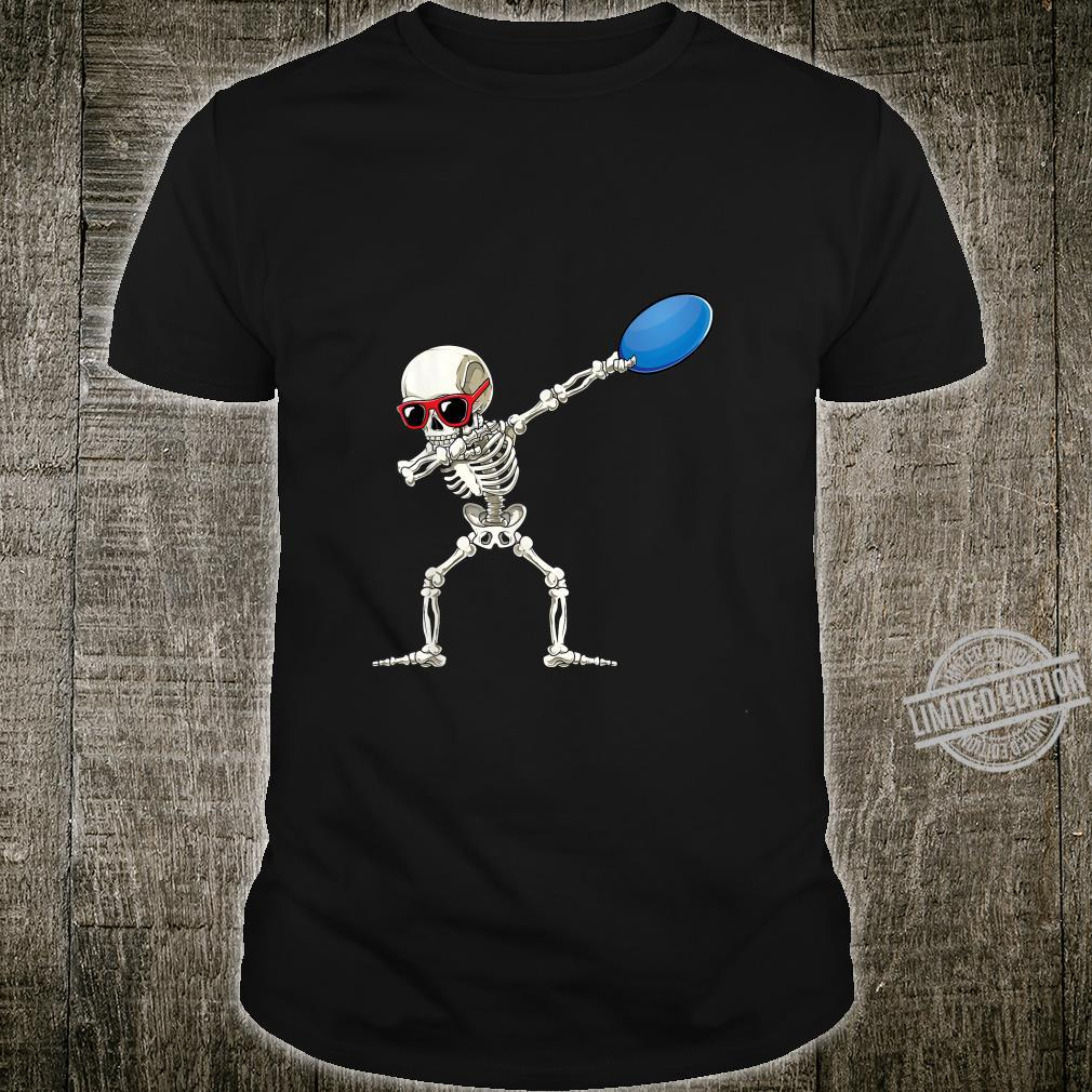 Funny Dabbing Skeleton Dab Disc Golf Player Cool Shirt