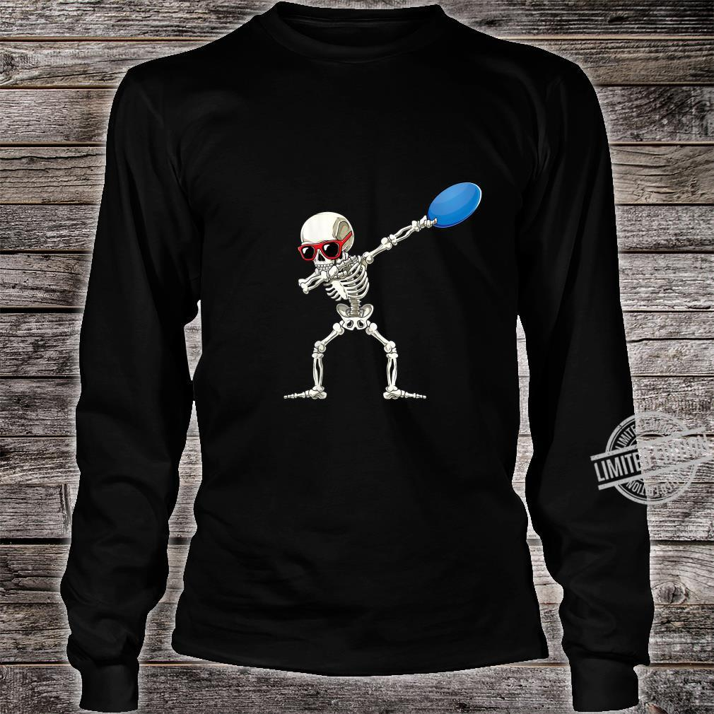 Funny Dabbing Skeleton Dab Disc Golf Player Cool Shirt long sleeved