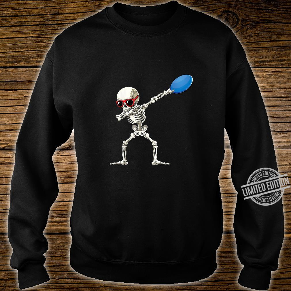 Funny Dabbing Skeleton Dab Disc Golf Player Cool Shirt sweater