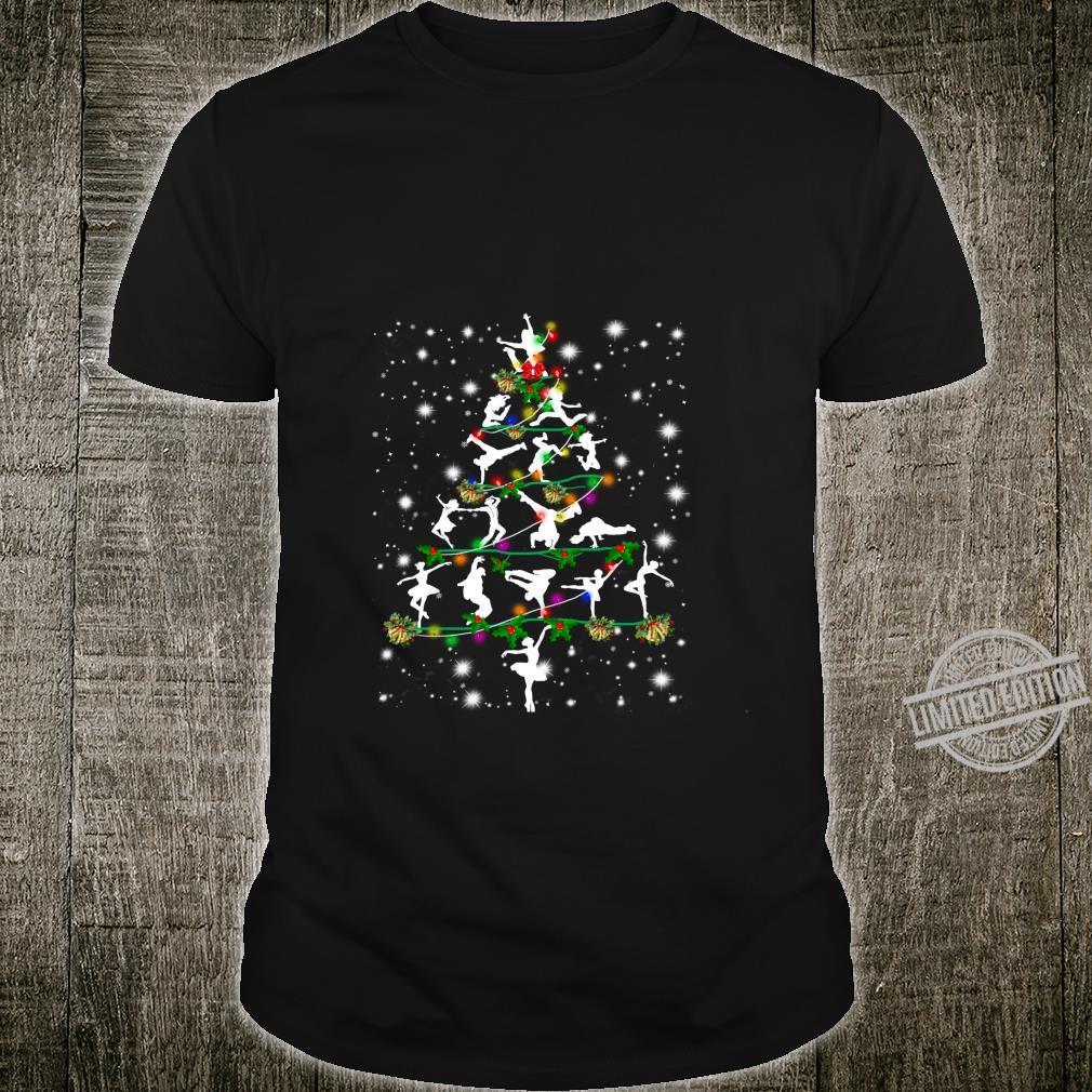 Funny Dance Christmas Tree Group Christmas Party Pajama Shirt