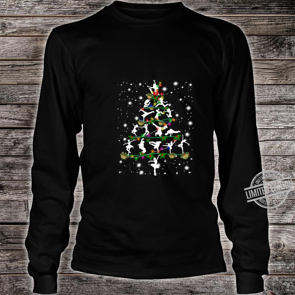 Funny Dance Christmas Tree Group Christmas Party Pajama Shirt long sleeved