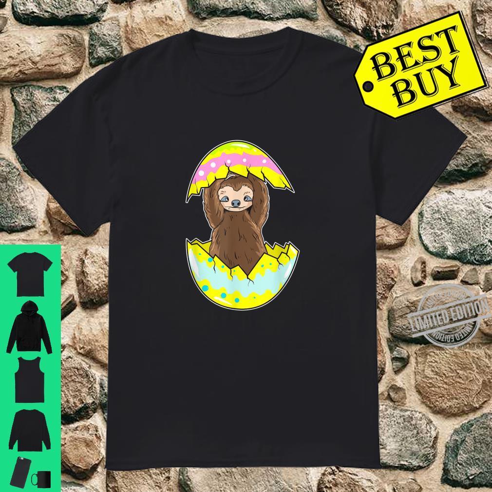 Funny Easter Sloth Easter Egg Shirt