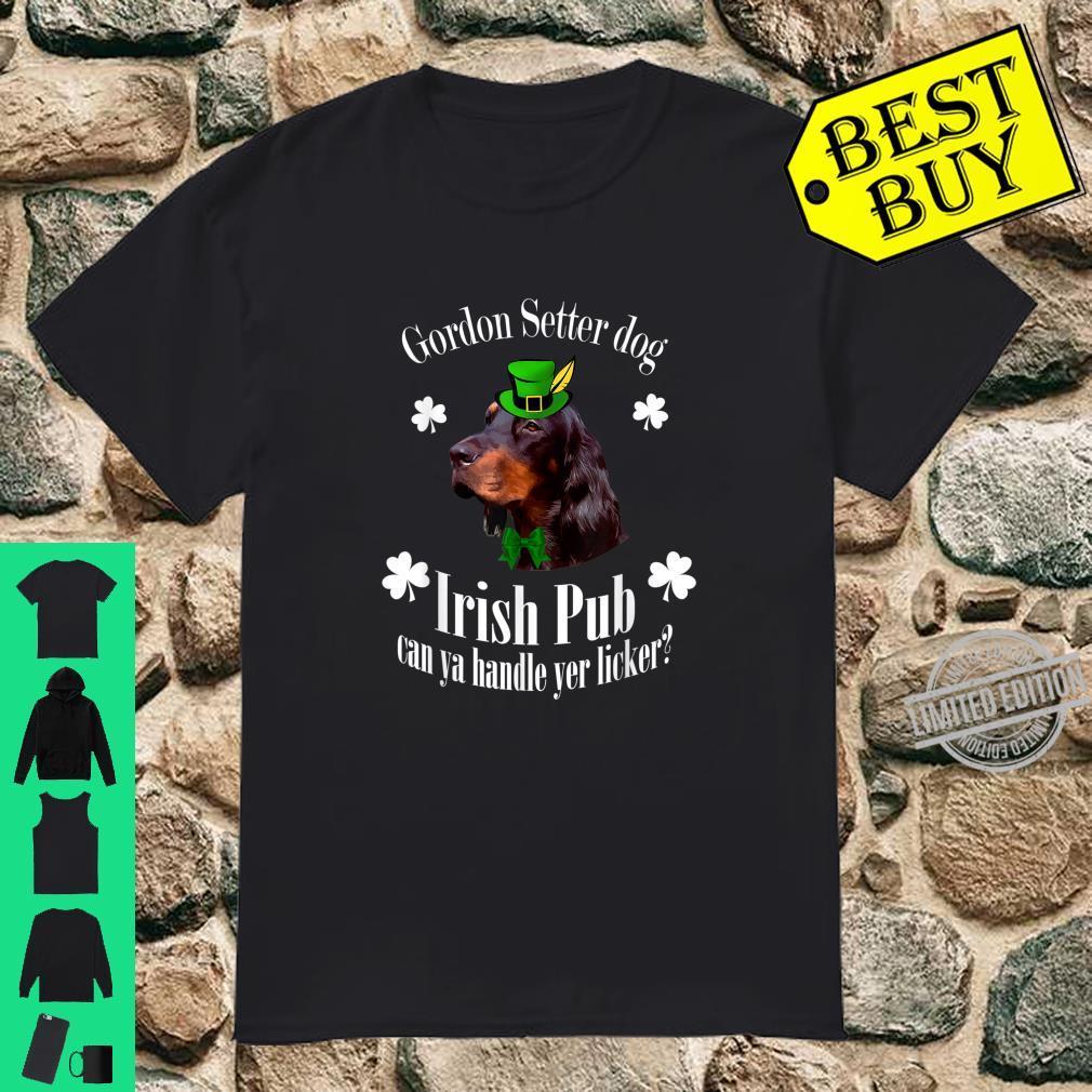 Funny Irish Pub Gordon Setter Mother Mom Dad Dog Shirt