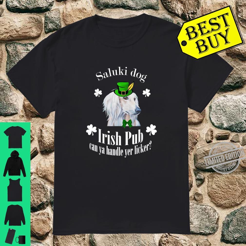 Funny Irish Pub Saluki Mother Mom Dad Dog Saluki Shirt