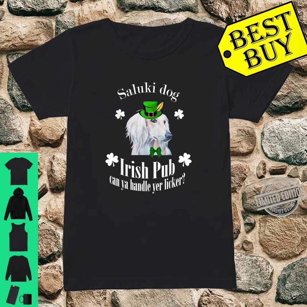 Funny Irish Pub Saluki Mother Mom Dad Dog Saluki Shirt ladies tee