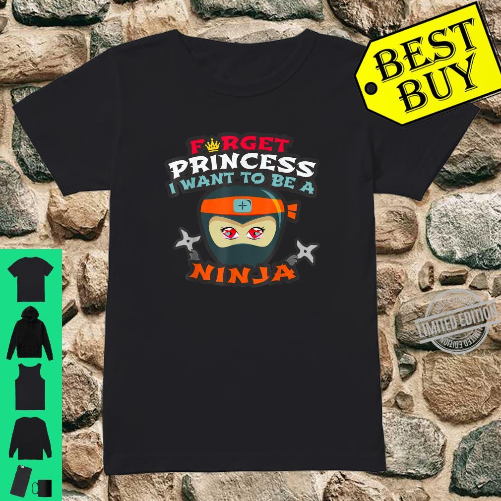 Funny Martial Arts Preschool Princess Master Ninja Clan Shirt ladies tee