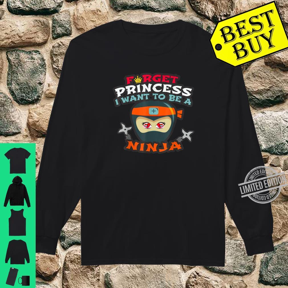 Funny Martial Arts Preschool Princess Master Ninja Clan Shirt long sleeved