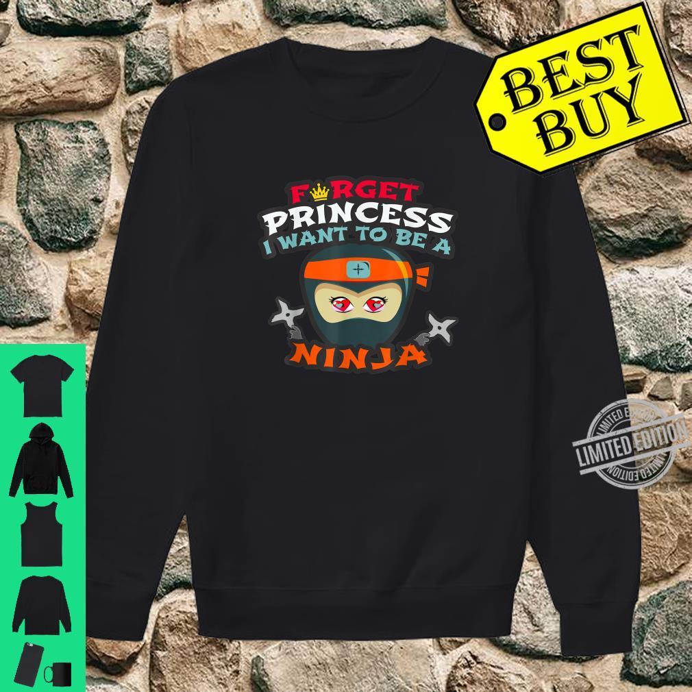 Funny Martial Arts Preschool Princess Master Ninja Clan Shirt sweater