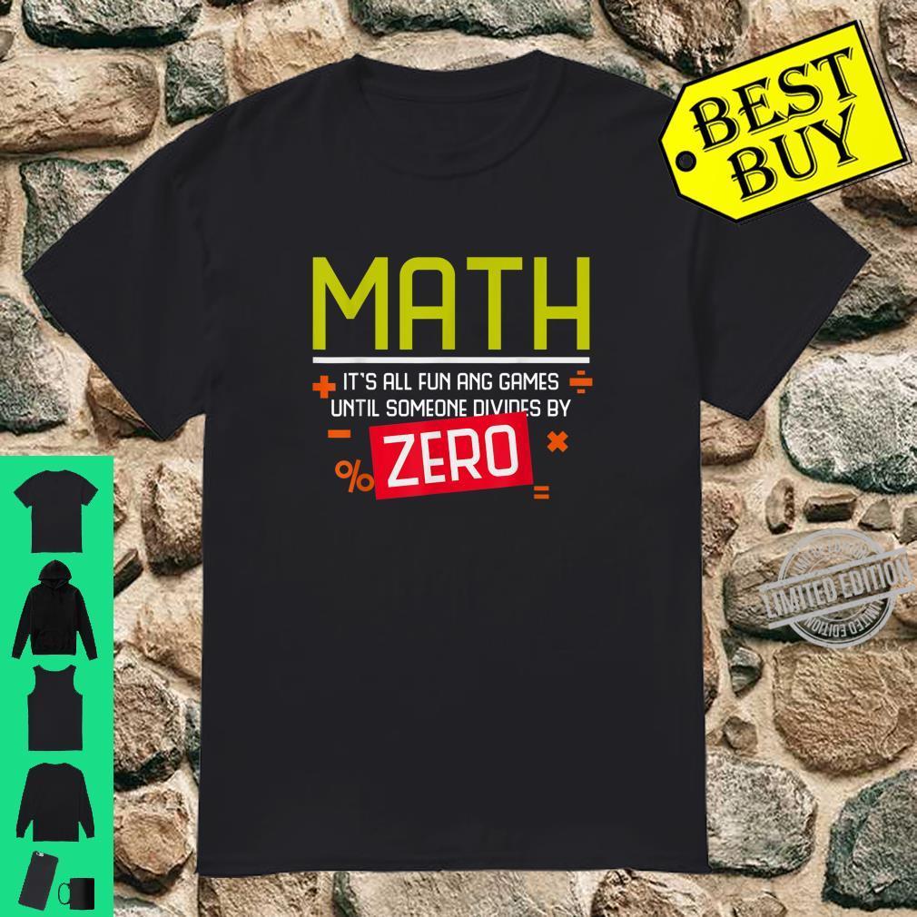 Funny Math Division College Math Teacher H Shirt