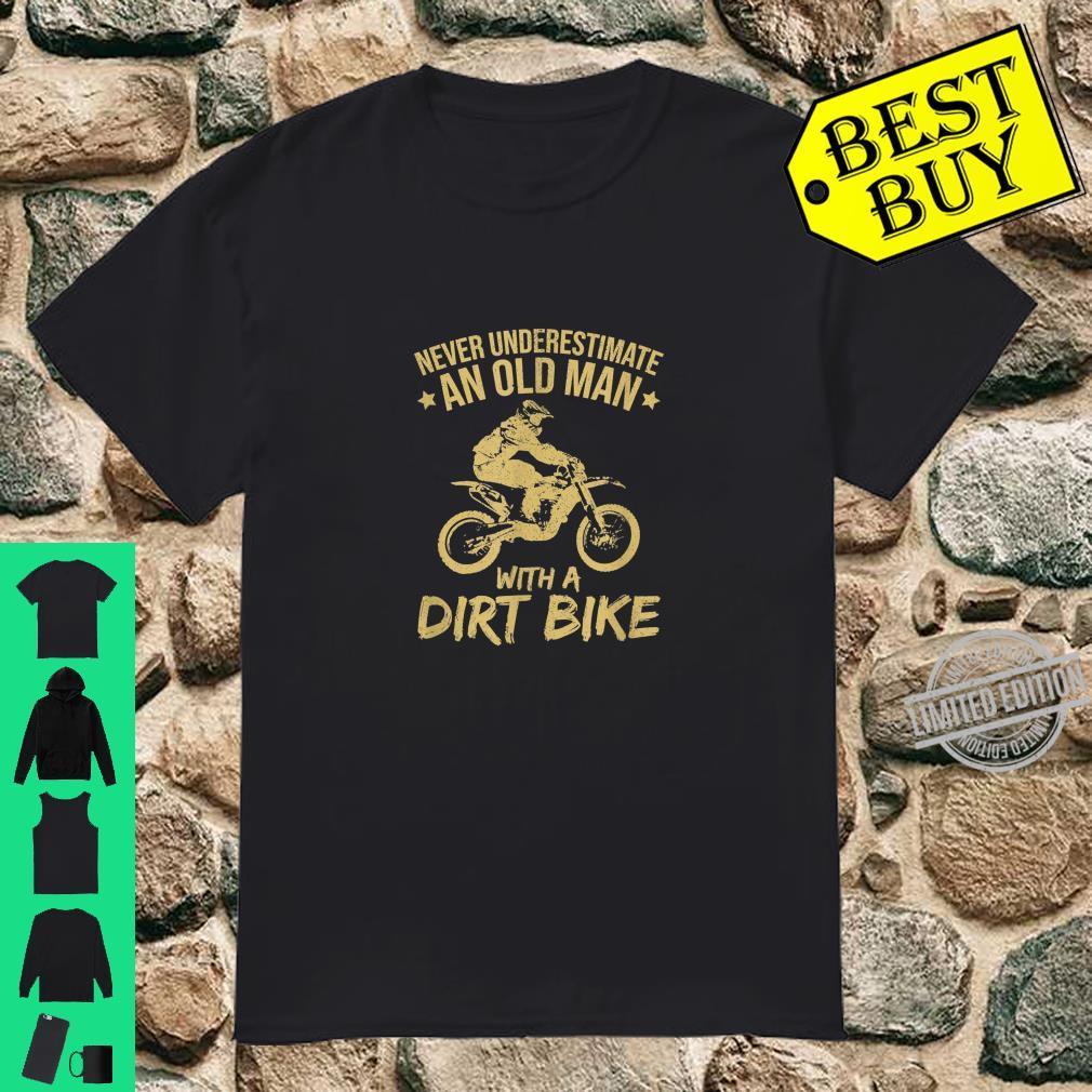 Funny Old Man Dirt Bike Motocross Shirt