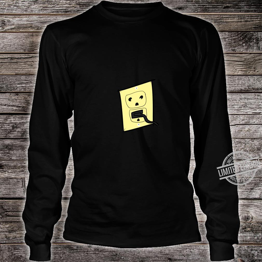 Funny Plug Outlet Face Shirt long sleeved