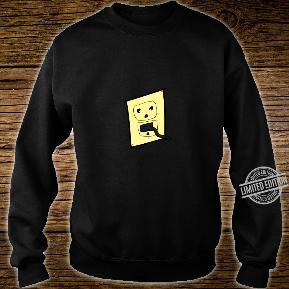 Funny Plug Outlet Face Shirt sweater
