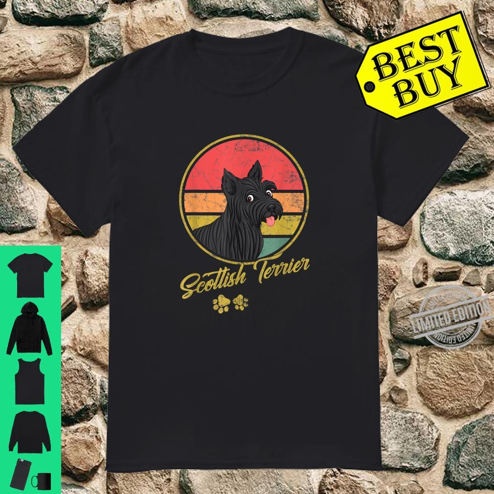 Funny Vintage Scottish Terrier For Dogs Shirt