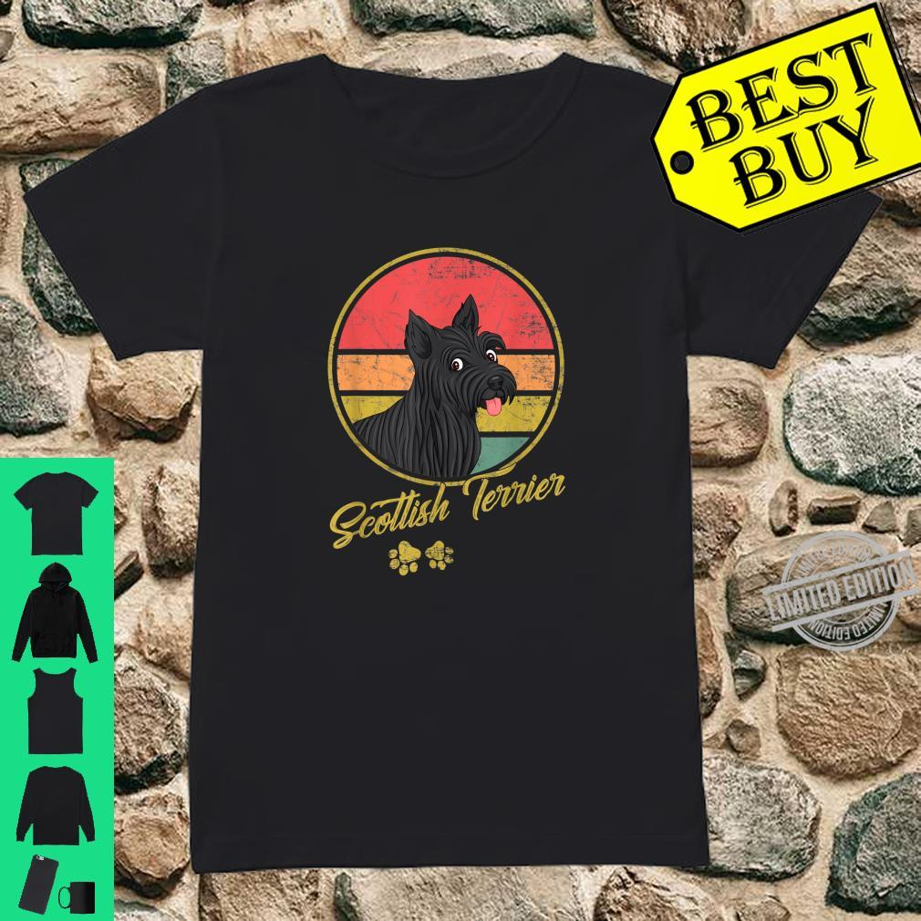 Funny Vintage Scottish Terrier For Dogs Shirt ladies tee