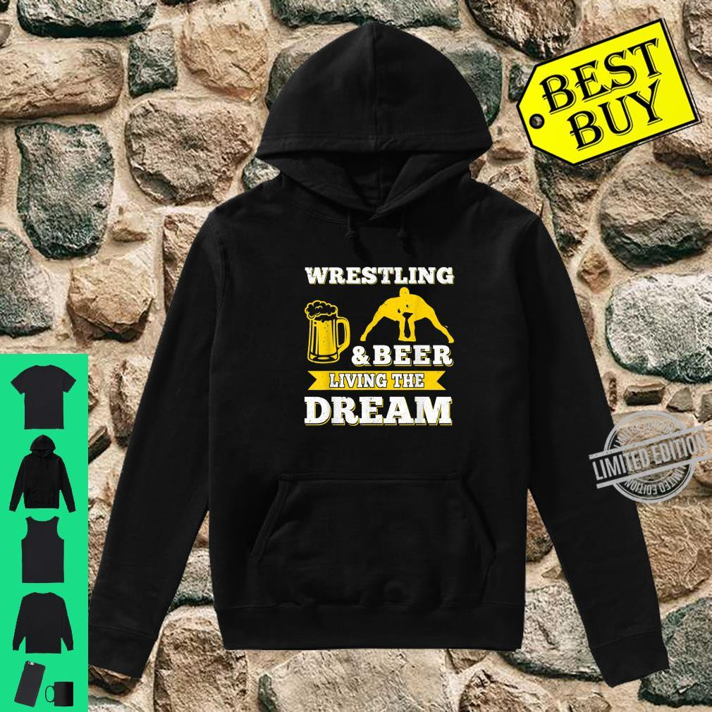 Funny Wrestling And Beer Drinking Oktoberfest Month Shirt hoodie