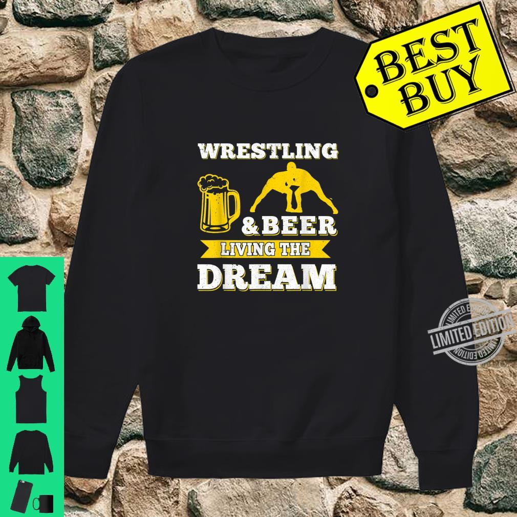 Funny Wrestling And Beer Drinking Oktoberfest Month Shirt sweater