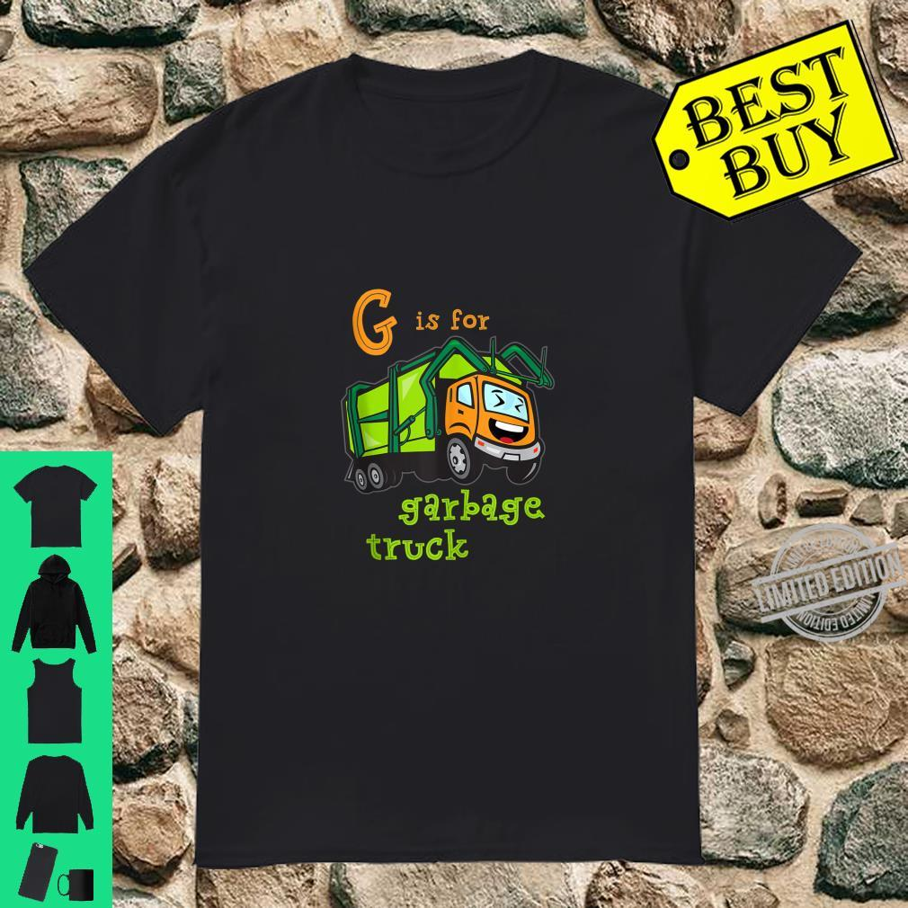 G is for Garbage Truck Shirt