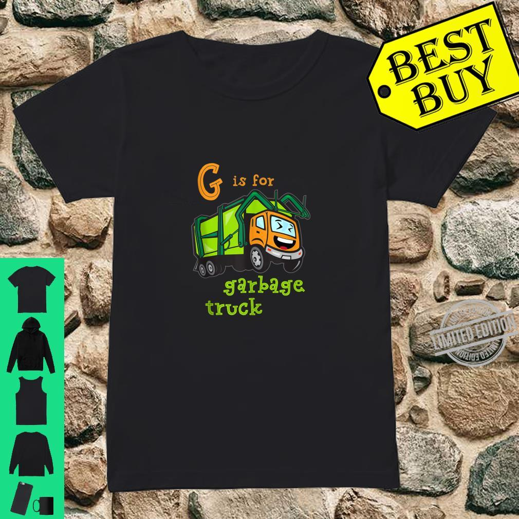 G is for Garbage Truck Shirt ladies tee