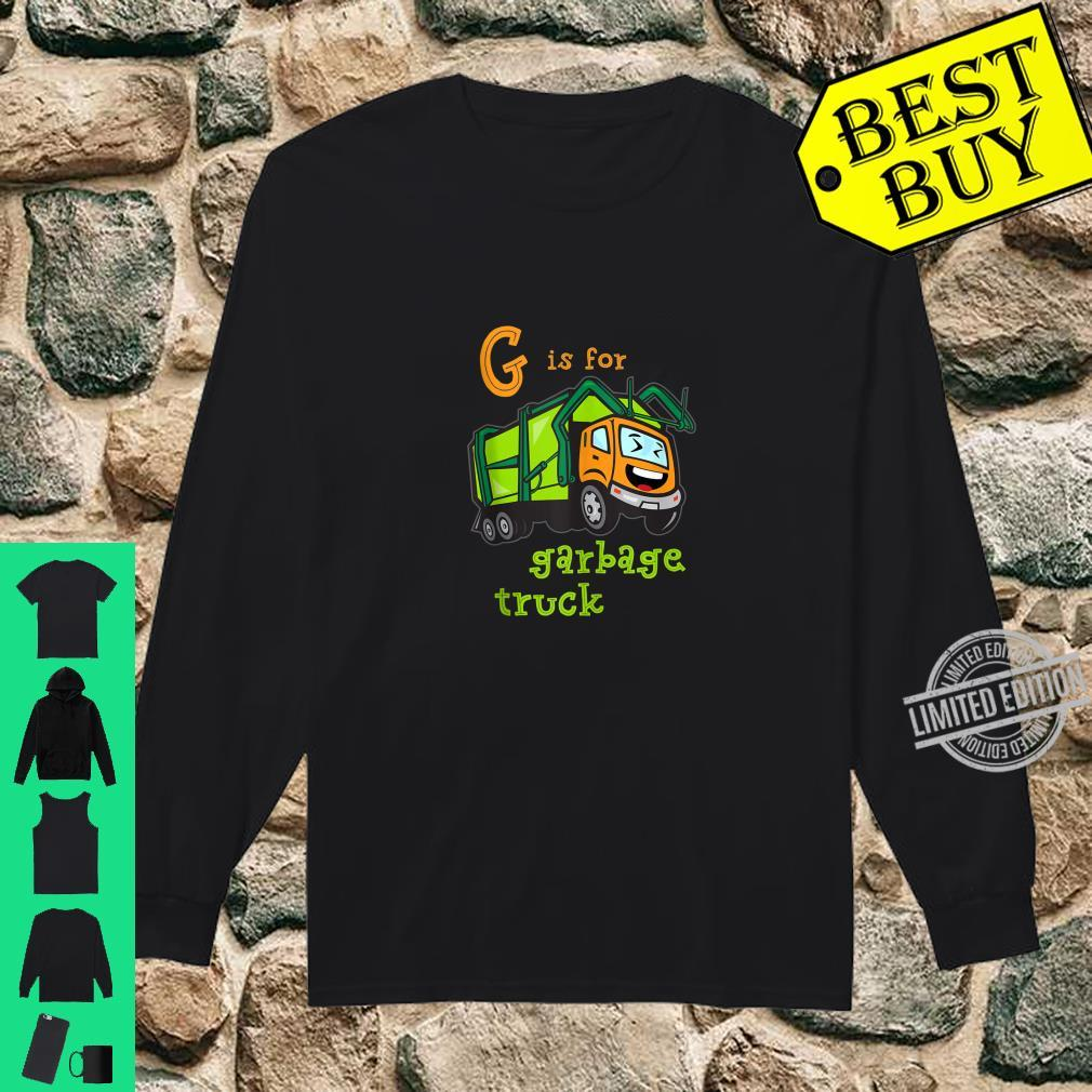 G is for Garbage Truck Shirt long sleeved