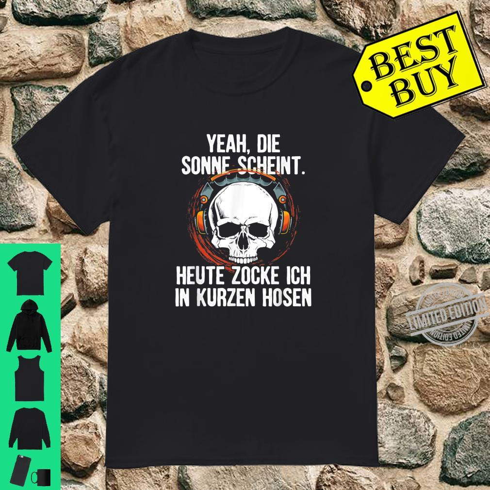 Gamer Zocker Computer Spiel Geschenk Spielkonsole Gamen Fun Shirt