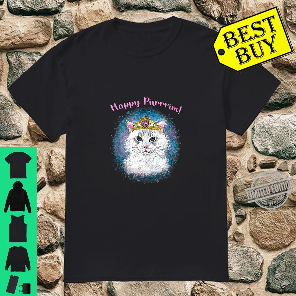 Girl's Happy Purrrim Purim Queen Esther Cat Shirt
