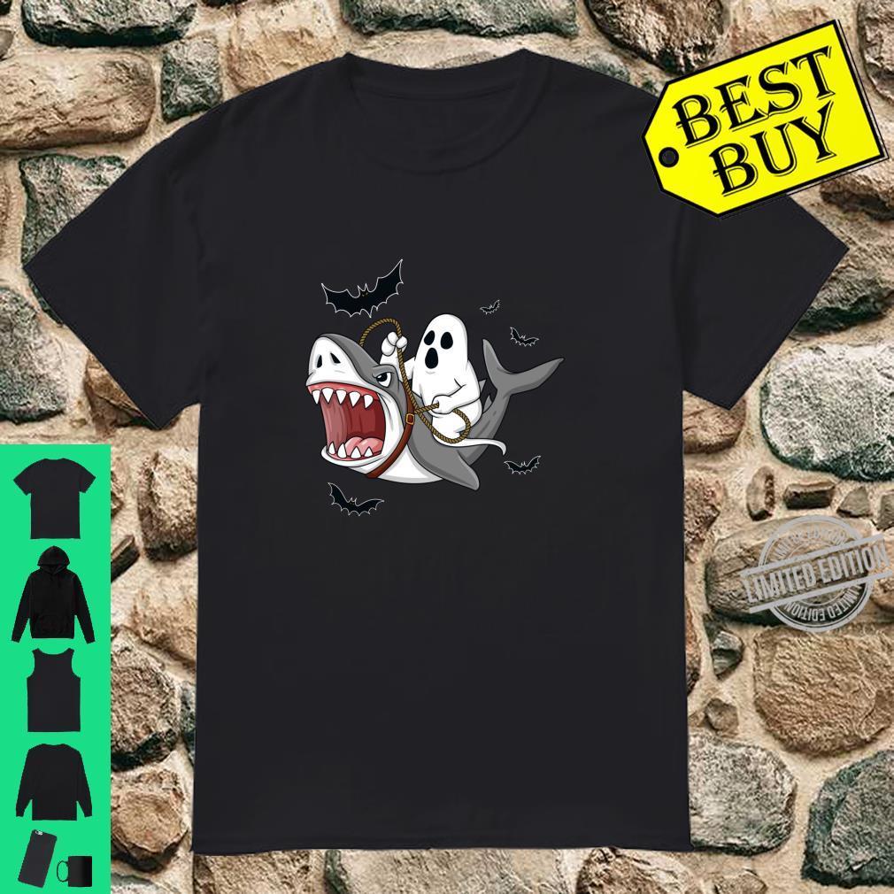 HalloweenGeister reitender Hai Langarmshirt Shirt