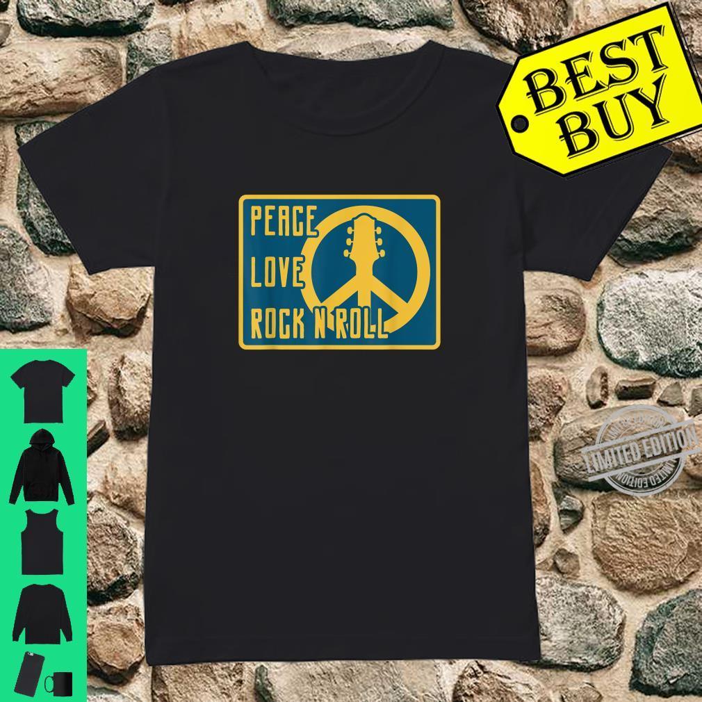 Hippie Hippies Peace Vintage Retro Guitar Player H Shirt ladies tee
