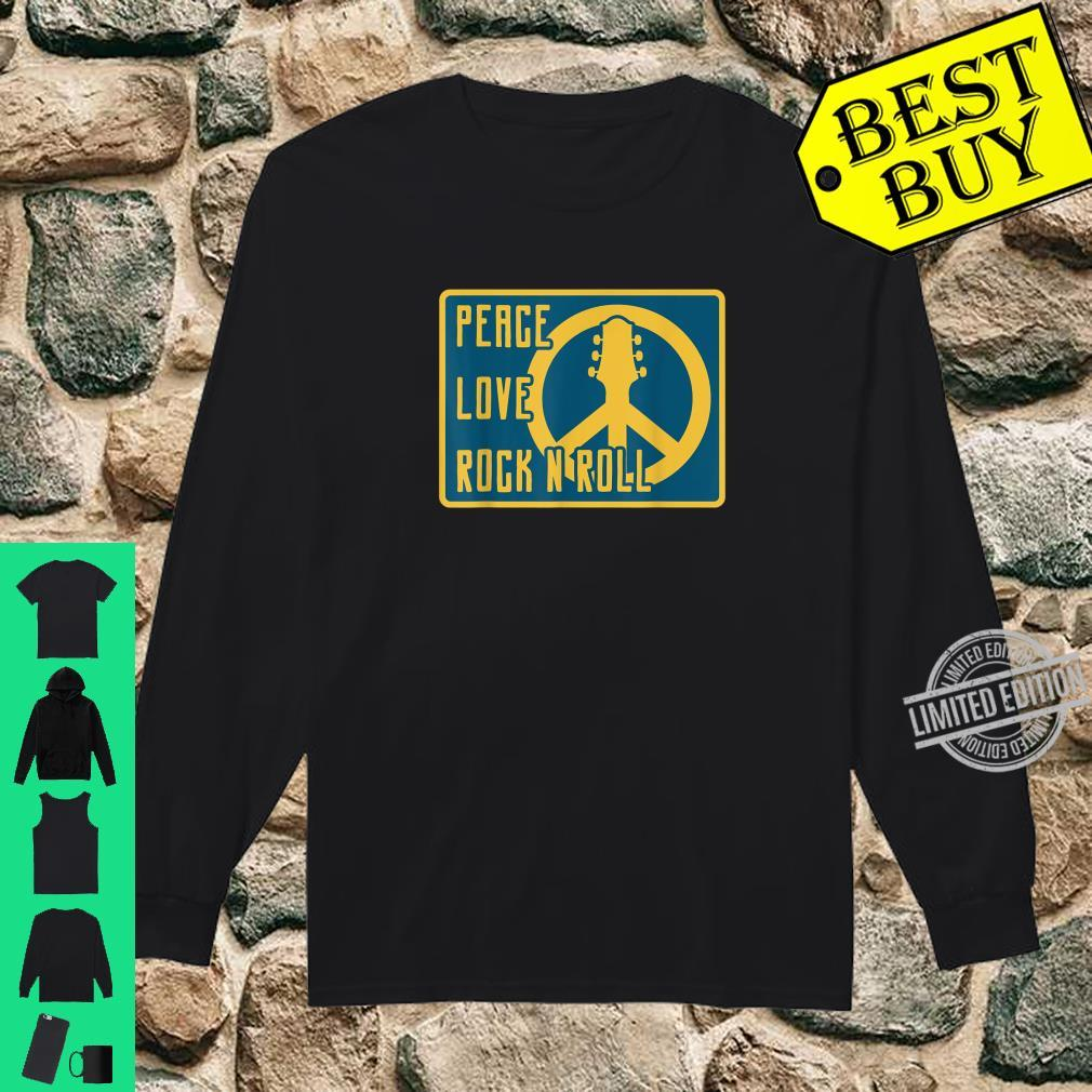 Hippie Hippies Peace Vintage Retro Guitar Player H Shirt long sleeved