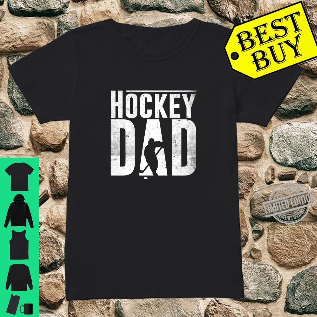 Hockey Dad Hockey Silhouette Father Shirt ladies tee