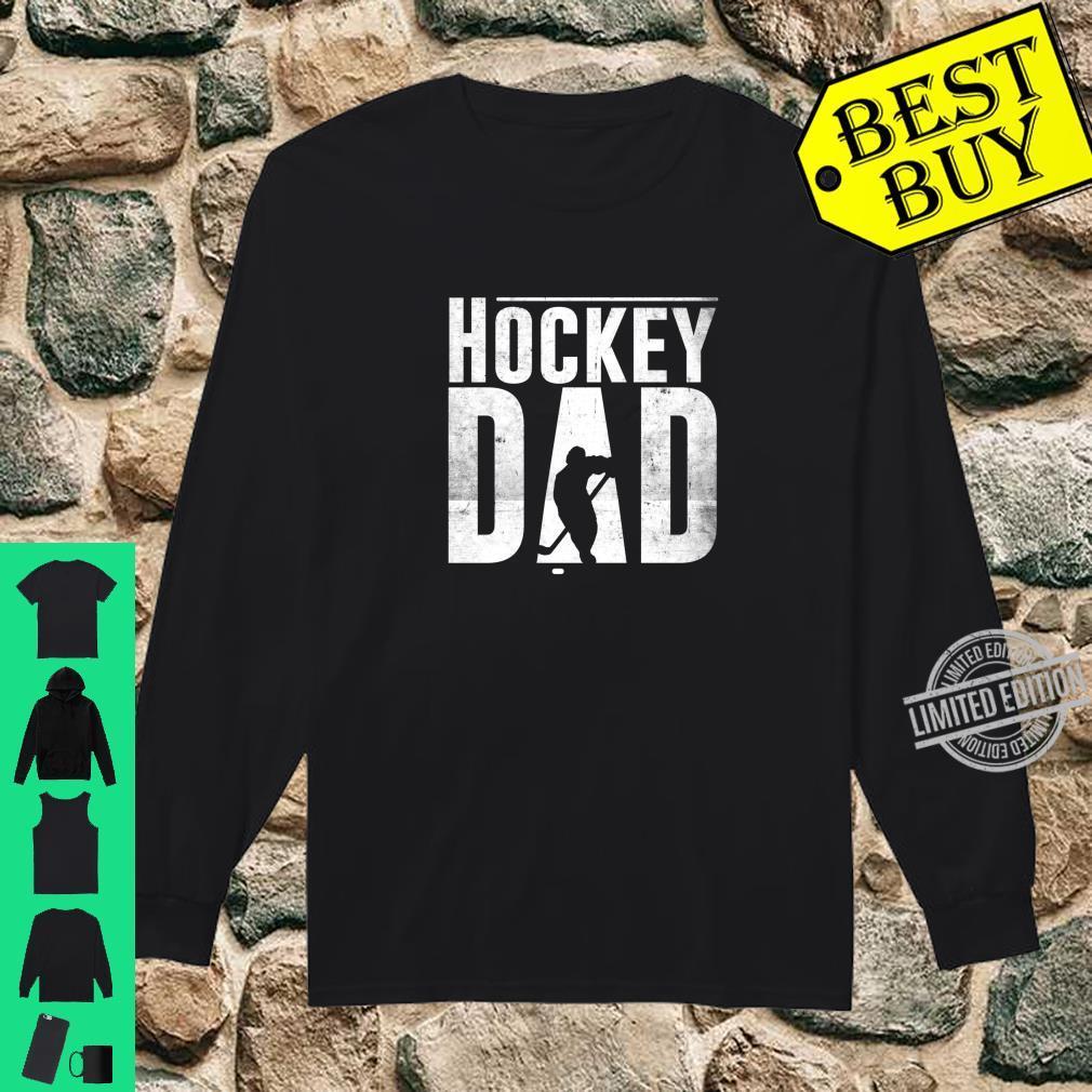 Hockey Dad Hockey Silhouette Father Shirt long sleeved