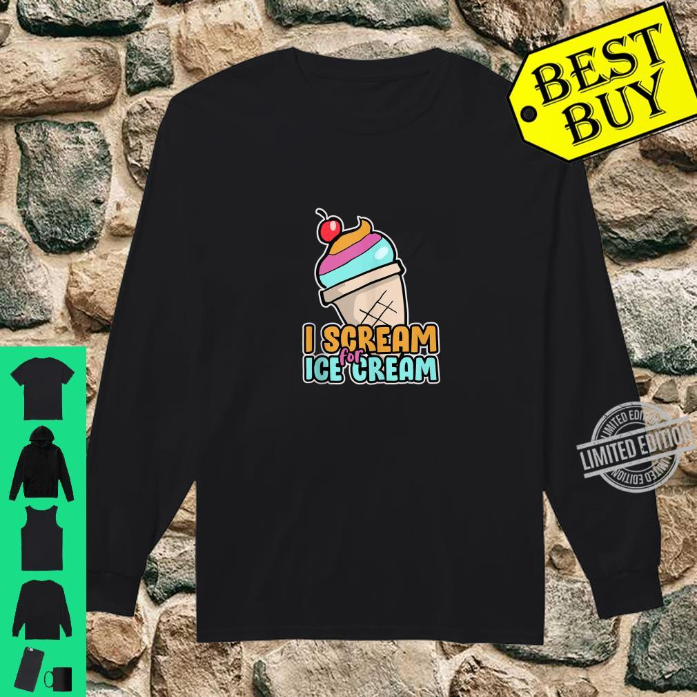 I Scream For Ice Cream For Kids Clothes Shirt long sleeved