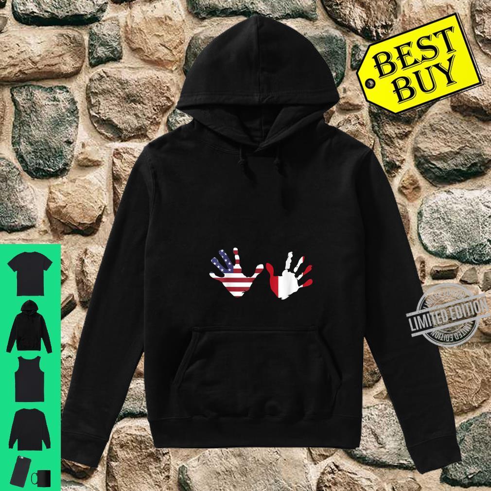 Interracial Peruvian American Hands Pregnancy Announcement Shirt hoodie