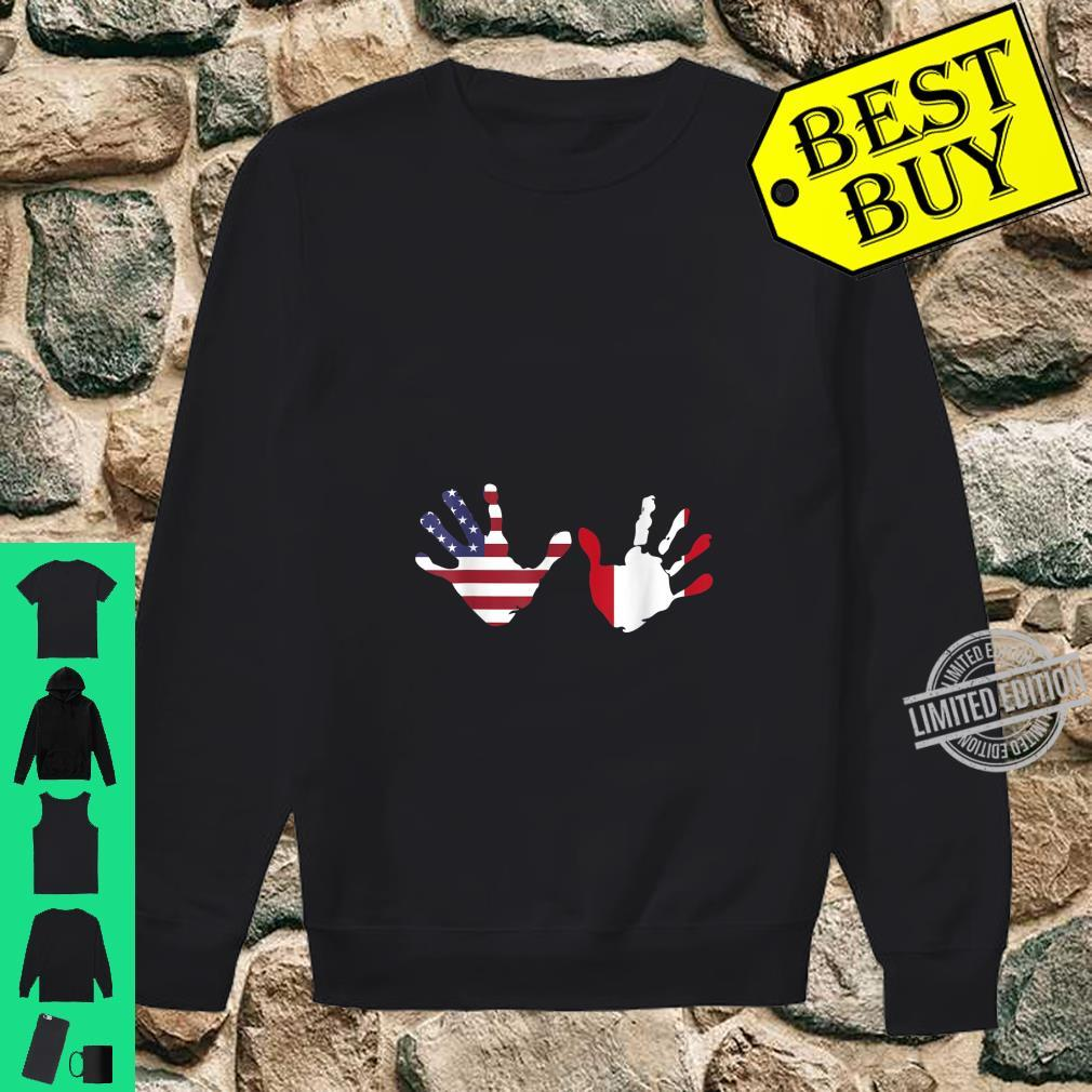 Interracial Peruvian American Hands Pregnancy Announcement Shirt sweater