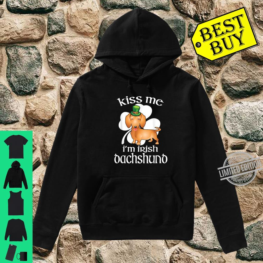 Kiss Me I'm Irish Dachshund Dog Leprechaun St Patrick's Day Shirt hoodie