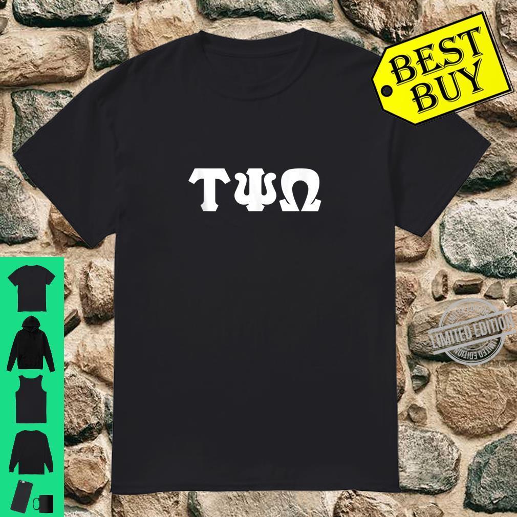 Mens Greek letters Tau, Psi, and Omega Shirt