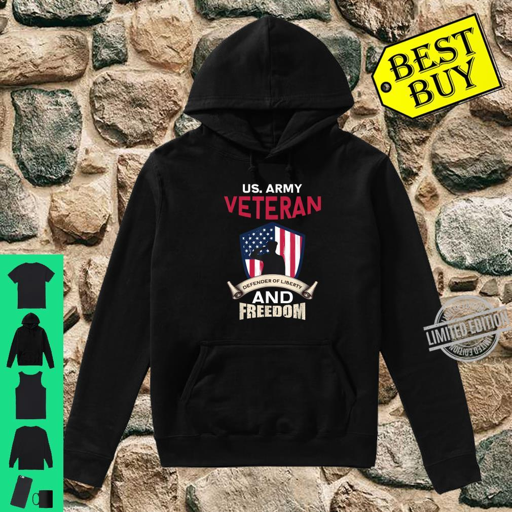 Mens US Army Veteran Defender Of Liberty And Freedom Soldier Shirt hoodie