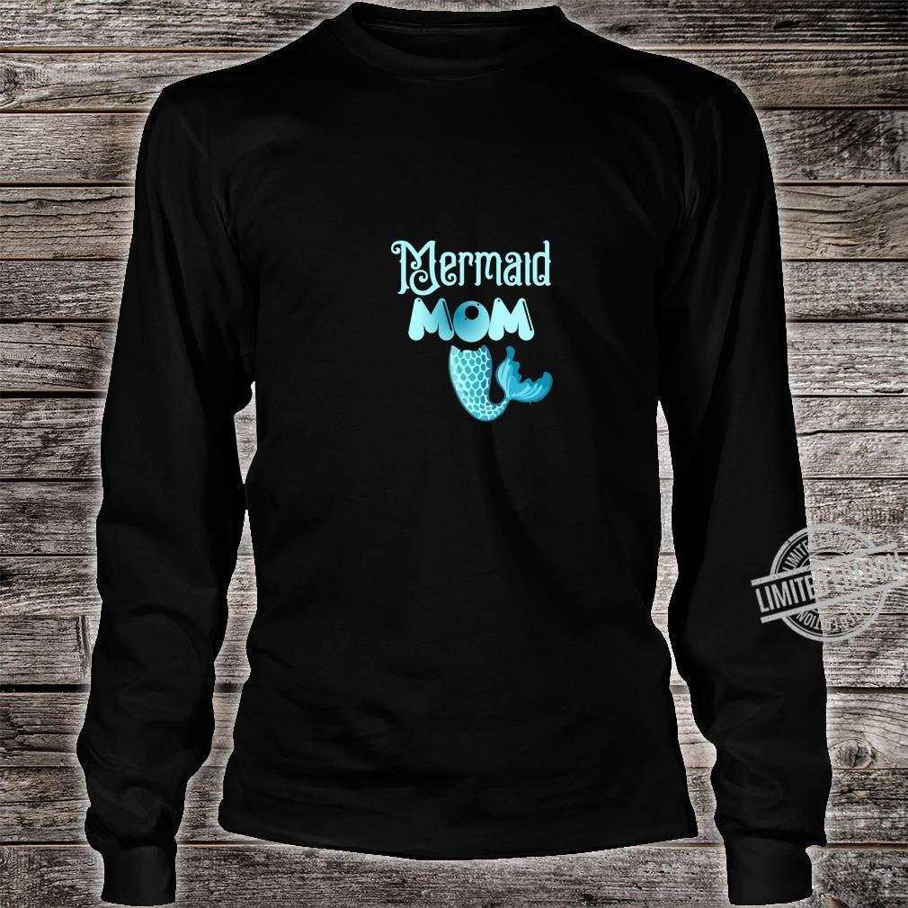 Mermaid Mom Birthday party family Shirt long sleeved