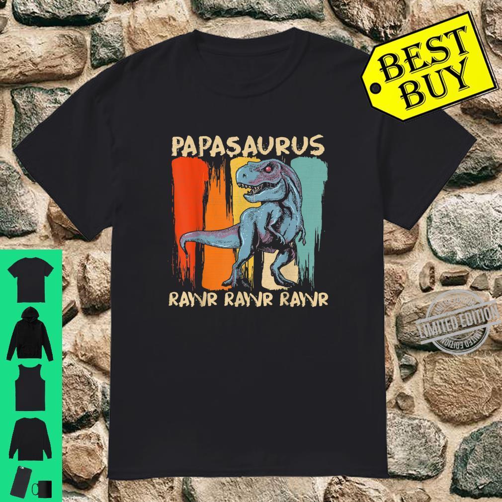 Papasaurus Dinosaur Papa Family Matching Shirt
