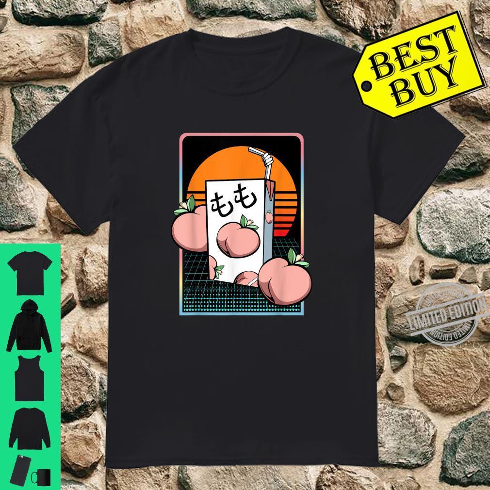 Pfirsich Saft Obst Milch Vaporwave Otaku Japan Liebhaber Shirt