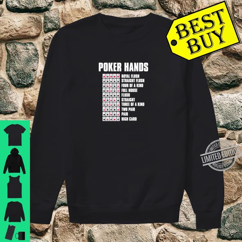 Poker Hands Casino Poker Player Shirt sweater