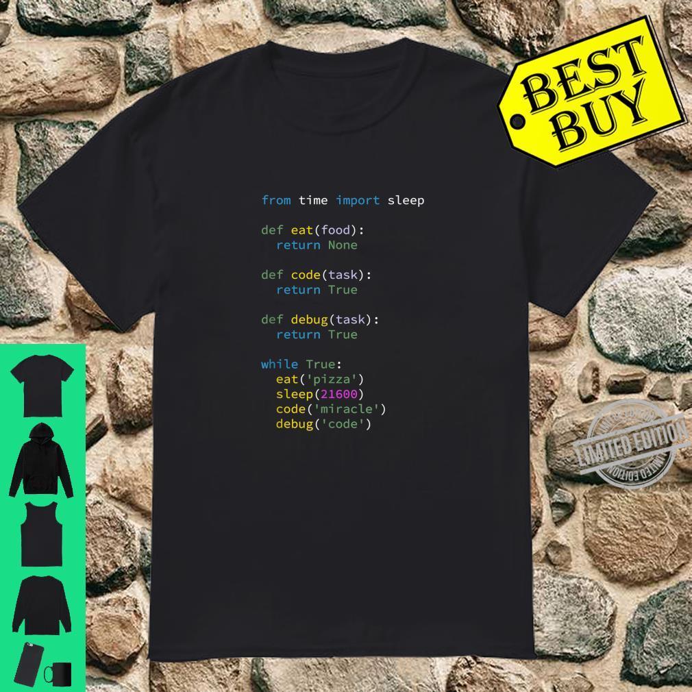 Programmierer Informatiker ITler Eat Sleep Code Debug Shirt