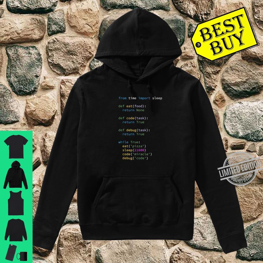 Programmierer Informatiker ITler Eat Sleep Code Debug Shirt hoodie