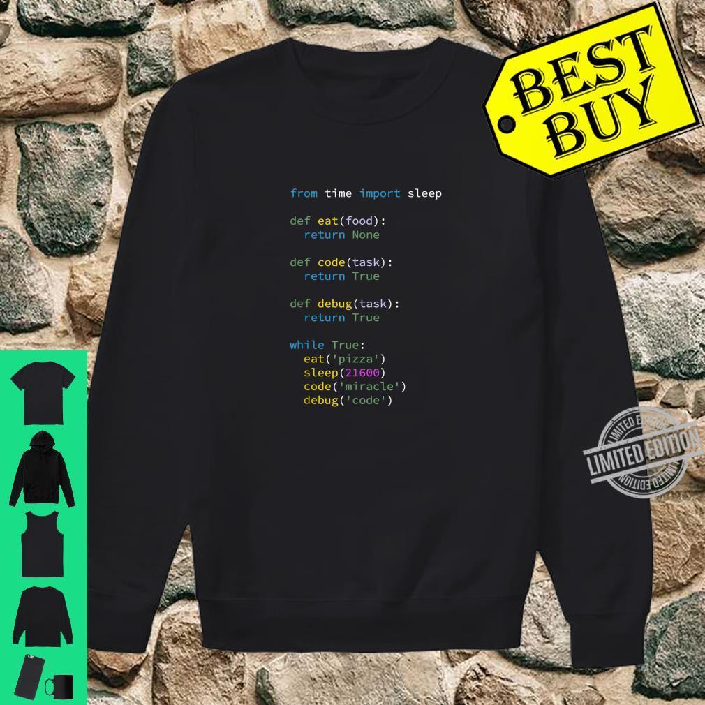 Programmierer Informatiker ITler Eat Sleep Code Debug Shirt sweater