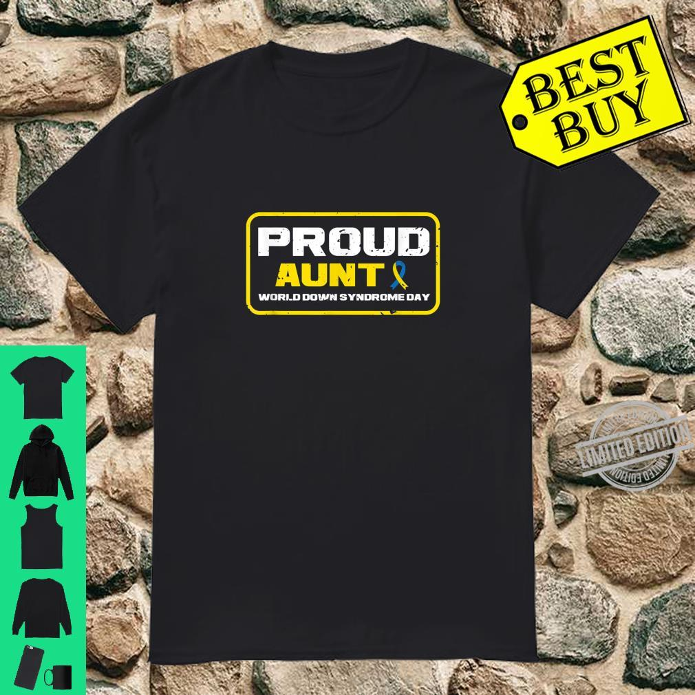 Proud Aunt Down Syndrome Day Awareness Ribbon Shirt