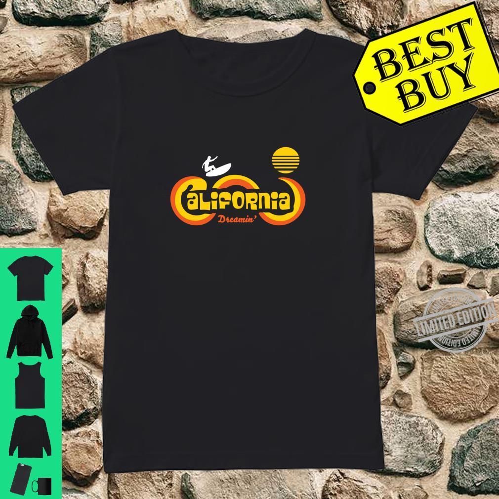 Retro 70's California Surf and Sun Souvenir Apparel Shirt ladies tee