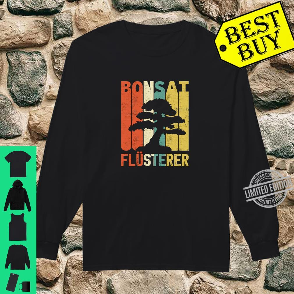 Retro Bonsai Flüsterer Baum Japan Geschenke Langarmshirt Shirt long sleeved